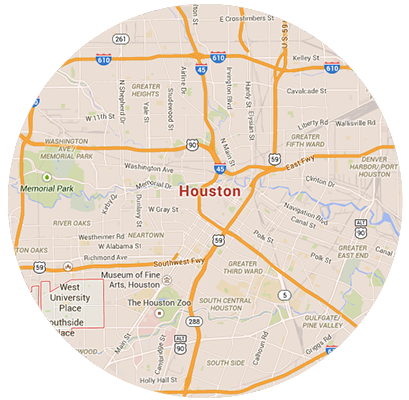 Houston Garage Door Service Areas