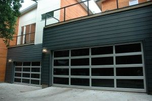 contemporary style glass garage door houston tx